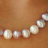 Perlenkette aus bunten Perlen ca. 9mm