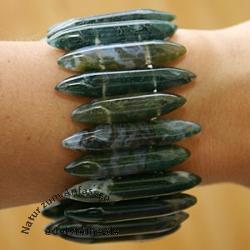 Moosachat Armband Stiftform