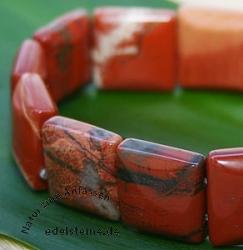 Roter Jaspis Armband Quattro