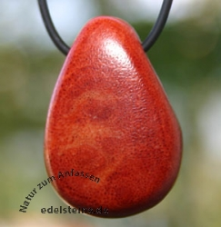 Coral Pendant drop - shape