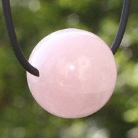 Rose Quartz ball pendant