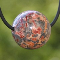 Pop Jasper ball pendant