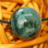Moss Agate Ball Pendant 15mm