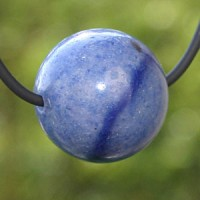 Blue Quartz Ball Pendant 15mm