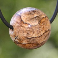 Land Jasper Ball Pendant