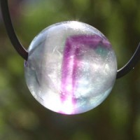 Fluorite Ball Pendant 15mm