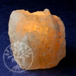 Salzkristall-Teelicht Teelichthalter aus Kristallsalz