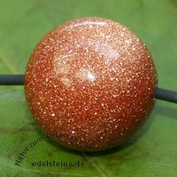 Gold Stone Ball Pendant 20mm