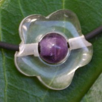 Crystal/Amethyste Flower Combination small