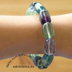 Fluorit Trommelstein - Armband