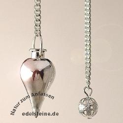 Pendulum round silvercoloured 2