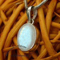 Silver Pendant with Rainbow Moonstone