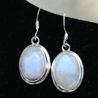 Mondstein-Ohrringe in Silber