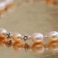 Perlen-Silber Armband