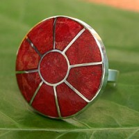 Red Coral Ring 2