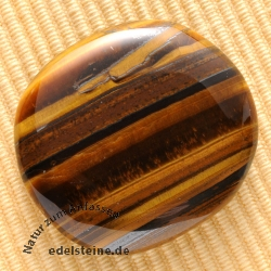 Tiger Eye Handstone 30/40mm Fine Flat Tigereye Handstone