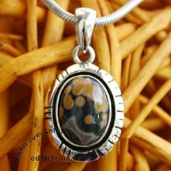 Silber-Anhaenger mit Ocean Jaspis