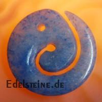 Blauquarz Edelstein Anhaenger Swirl