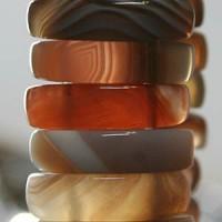 Achat A Armband aus Natur Edelstein Achaten 25mm breit
