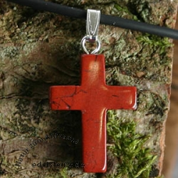 Red Jasper Cross Pendant small