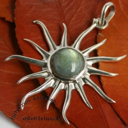 Labradorit-Silber-Anhaenger Sonne 2