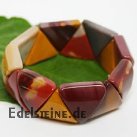 Mookaite Armband Triangle 20 mm