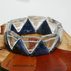 Bergkristall / Sodalith Armband Triangle SMALL