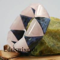 Rosenquarz / Sodalith Armband Triangle SMALL