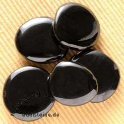 Jet (Gagate) Handstone 5 Pieces