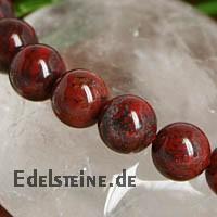 Roter Jaspis Buddha Bead