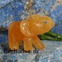 Elefant aus Orangen Calcit