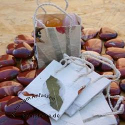 Schmucktaschen aus handgeschoepftem Papier weiss