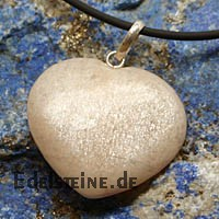 Moonstone Heart Pendant metal clasp big