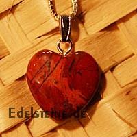 Roter Jaspis Herz Anhänger Mini mit Öse