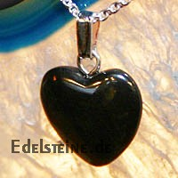 Onyx Heart Pendants Mini 3 pcs