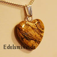 Land Jasper Heart Pendants Mini