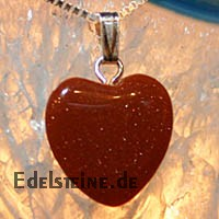 Goldstone Heart Pendants Mini 3 pcs