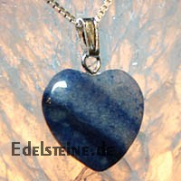Blue Quartz Heart Pendants Mini 3 pcs