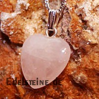 Rose Quartz Heart Pendants Mini 3 pcs