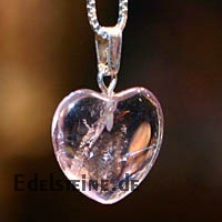 Amethyst Heart Pendants Mini 3 pcs