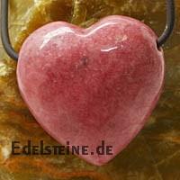 Rhodonit Herz Anhänger Belly BIG
