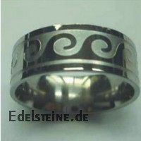 Stainless-Steel Ring ER175 Wave