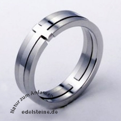 Stainless-Steel Ring Cross ER745