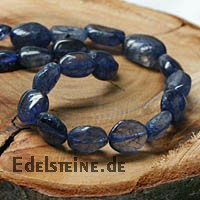 Iolithe Necklace Cordierite 45cm 7-10mm Iolithbeads Silver 925 Clasp