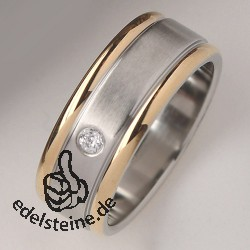 Stainless-Steel Ring with zirkonia ER745