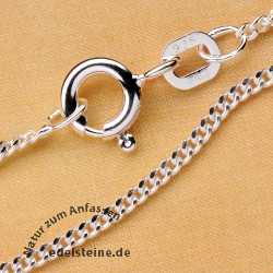 Curb Silver Chain 1,4mm/42 cm Sterlingsilver 925