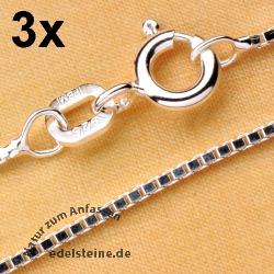 Venezianer Silberkette 42 cm 3 Stück Silber 925