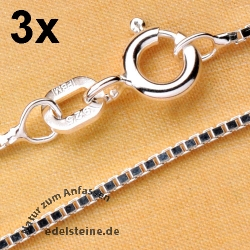 Venezianer Silberkette 45 cm 3 Stück Silber 925