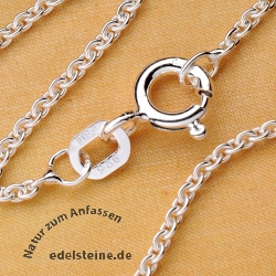 Marine Silver necklace sterlingsilver Chain 40 cm