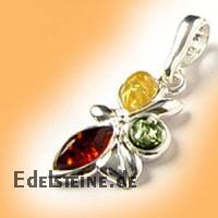 Amber Pendant Flower 1753